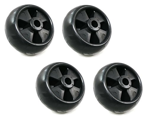 (The ROP Shop (4) Deck Wheel Rollers for John Deere AM116299 AM133602 M111489 M11149 Tractors)