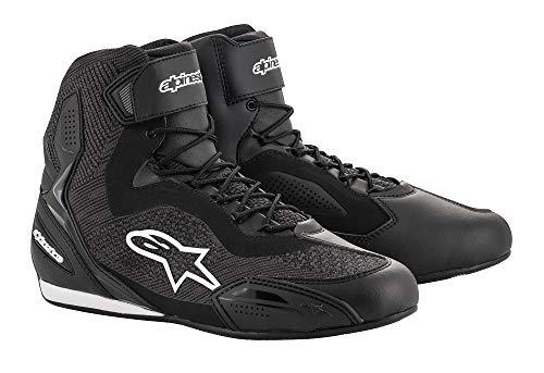 (Alpinestars Faster-3 Rideknit Shoes (11, 123-Black/White/Red))