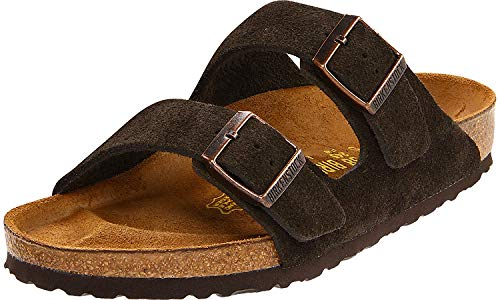 Birkenstock Arizona Mocha Suede Sandal 39 R (US Men's 6-6.5 / US Women's 8-8.5)