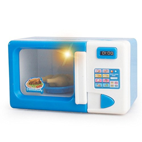 Pretend toy Binmer(TM) Microwave oven flashlight Bread machine Electronic scales Baby Kid Developmental Educational Play Home Appliances Kitchen Toy Gift for Kid Child Girls Boys (Microwave oven) (Oven Toy Microwave)