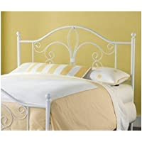 Hawthorne Collections Full Queen Metal Headboard in White