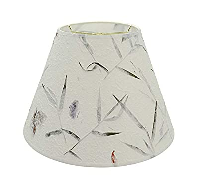 """Aspen Creative 32631 Transitional Hardback Empire Shaped Construction White, 12"""" Wide (6"""" x 12"""" x 9"""") Spider LAMP Shade Off"""
