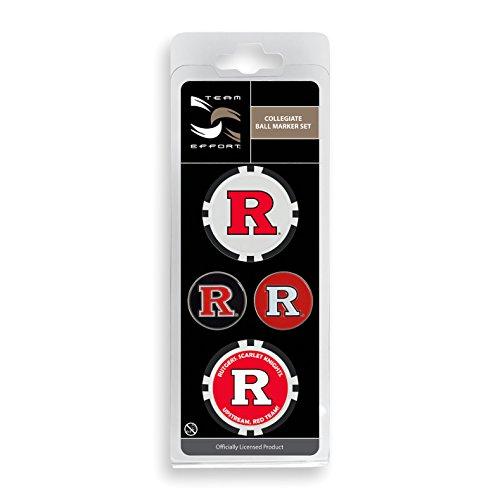 Team Effort Rutgers Scarlet Knights Ball Marker Set