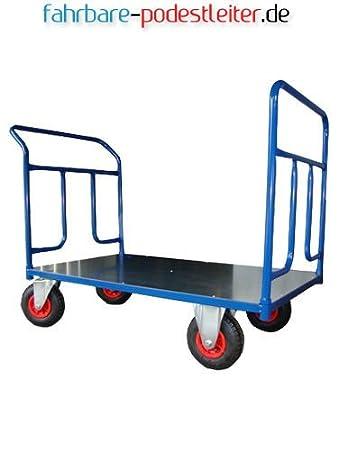 Plattformwagen 250 KG blau Handwagen Magazinwagen Transportwagen