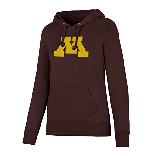NCAA Minnesota Golden Gophers Women's OTS Fleece Hoodie, Dark Maroon, (Minnesota Golden Gophers Womens Basketball)