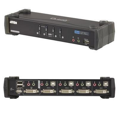 4-Port Dual Link DVI KVMP switch corresponding CS1784A/ATEN Princeton ATEN Technology, Inc. by ATEN