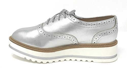 Soda White Bottom Womens Oxford Shoes Silver Rcx0WTS