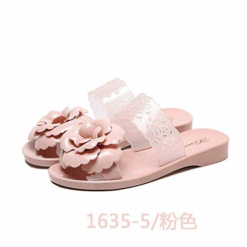 El y moda coole mujeres verano flores de llevan zapatos zapatillas Rosa zapatillas zqgzErw