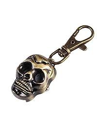 GG Pinkey Unisex Mini Pocket Watch Skull Key Ring Keychain