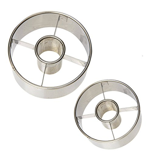 Ateco Stainless Steel Donut Cutter Set of 2 :  2 1/2'' and 3 1/2''.