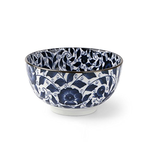 LXY Japan Imported Blue and White Porcelain Tableware Beef Noodle Bowl Home Japanese Ramen Bowl 6 Inch Large Soup Bowl Bowl