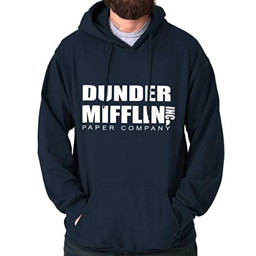 Brisco Brands Dunder Paper Company Mifflin Office TV Show Hoodie Navy