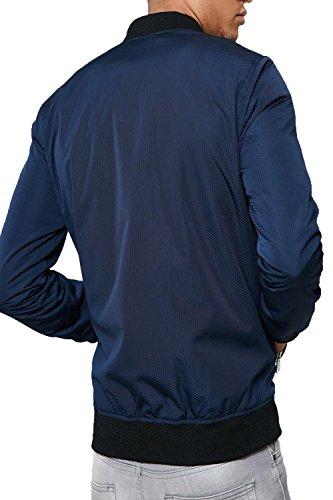 Uomo Maniche Lunghe Navy Threadbare Classico Blue Giacca Università Basic xHw6SgF1
