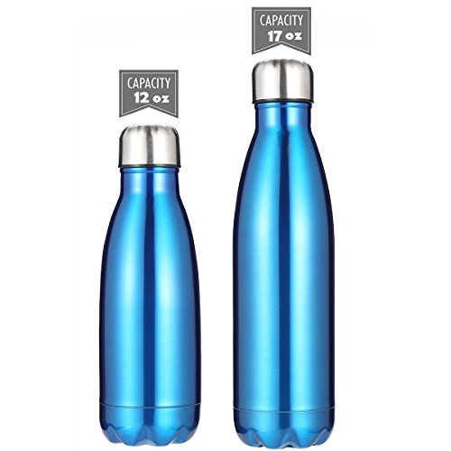DKASA Stainless Steel Vacuum Insulated Water Bottle,Cola Shaped,Business Convenience,Perfect for Outdoor Sports Camping Hiking Cycling, Keeps Your Drink Hot & Cold (blue, 12 oz(350ml)) (Insulated Water Bottle 8 Oz)