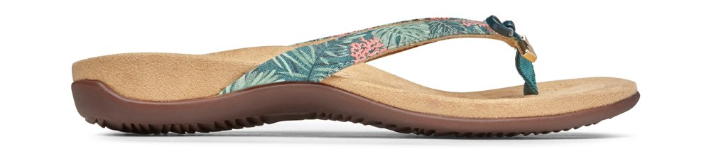 Vionic Women's Rest BellaII Toepost Sandal Daintree Coral Prints 8.5M US by Vionic (Image #2)