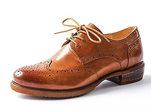 Oyangs Leather Shoes Women Oxford Lace Up A Uk208 HSqHfAgxw