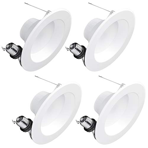 Hyperikon 6 Inch LED Recessed Lighting, 75 Watt Replacement (14W), Retrofit Downlight, 3000K, UL, Energy Star, CRI90+, 4 Pack