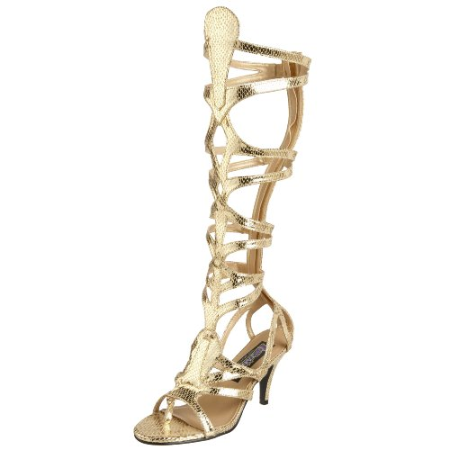 Snake Goddess Costume (Funtasma by Pleaser Women's Halloween Goddess-12 Sandal,Gold Snake Skin,9 M)