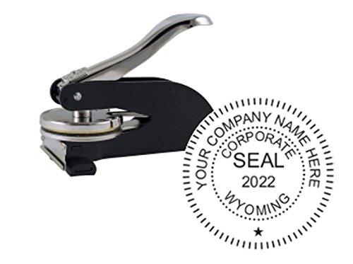 Wyoming Corporate Seal, Desk Model, 1-5/8