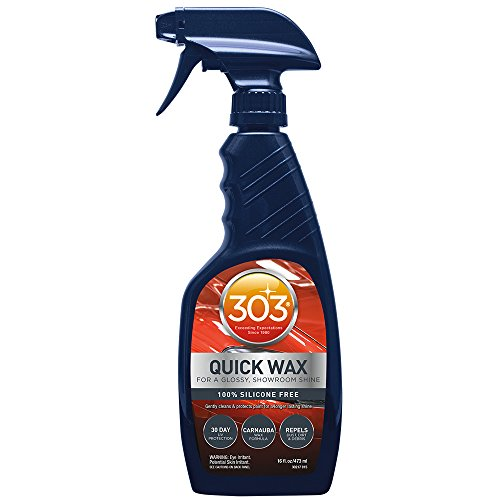 303 Spray Wax with UV Protectant - Car Cleaner with Carnauba Wax- Cleans Water Spots - Repels Dirt, Dust and Debris, 16 fl. oz.