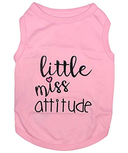Parisian Pet Funny Cute Dog Cat Pet Shirts Caution Can't Control My Licker, I Work Out, Little Monster, WTF, BFF, Bling $, Got Treats, Babe Magnet, Little Miss Attitude