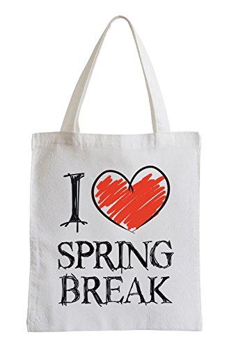 Amo Spring Break Fun sacchetto di iuta