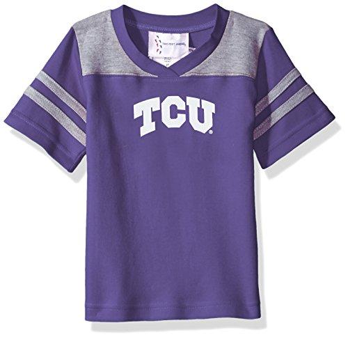 Two Feet Ahead NCAA Tcu Horned Frogs Toddler Boys Football Shirt, Purple, 2