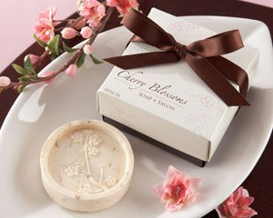 (Kate Aspen Cherry Blossom Scented Soap - Set of 50)