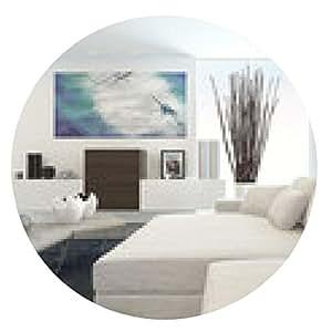 alfombrilla de ratón Sala de estar moderna con muebles blancos - ronda - 20cm