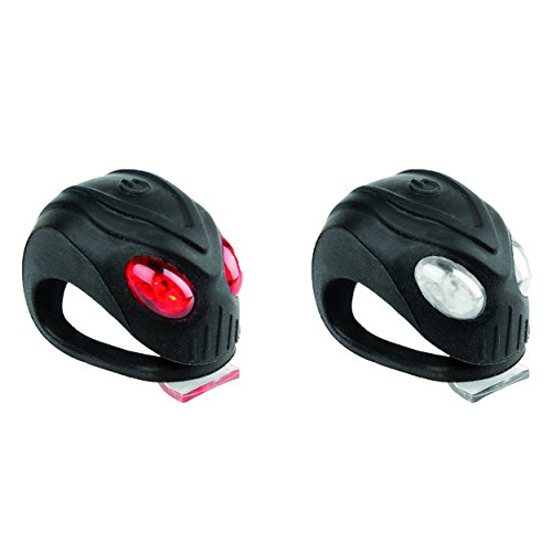 M-Wave Mamba Silicon Headlight/Taillight Combo, Black (3 Led Mwave Headlight)