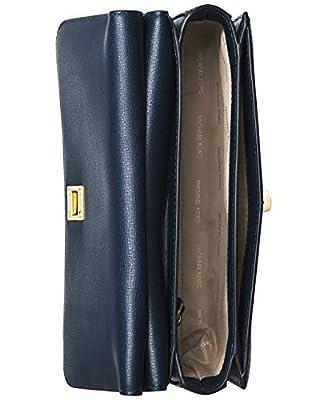 MICHAEL Michael Kors Womens Natalie Leather Messenger Handbag Brown Small