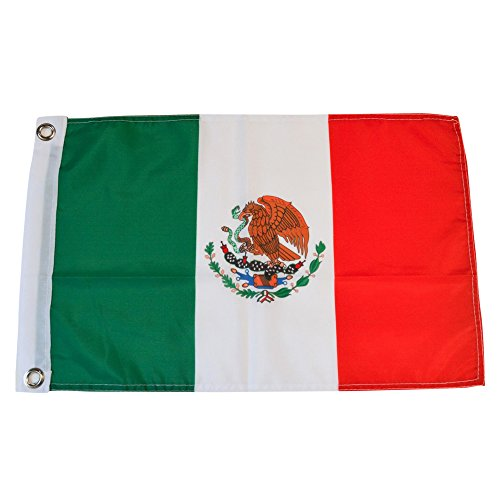 - Mexico Polyester Country Flags Desk Outside Waving Parade Mexican (12 Inch x 18 Inch Grommet Flag)
