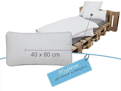 erstklassige Steppbettdecken oder Kopfkissen Hygiene für erholsamen und gesunden Schlaf - geprüft nach Öko-Tex Standard 100 - Kopfkissen in 2 Größen oder Steppbett in 3 Größen erhältlich, Kopfkissen 40 x 80 cm