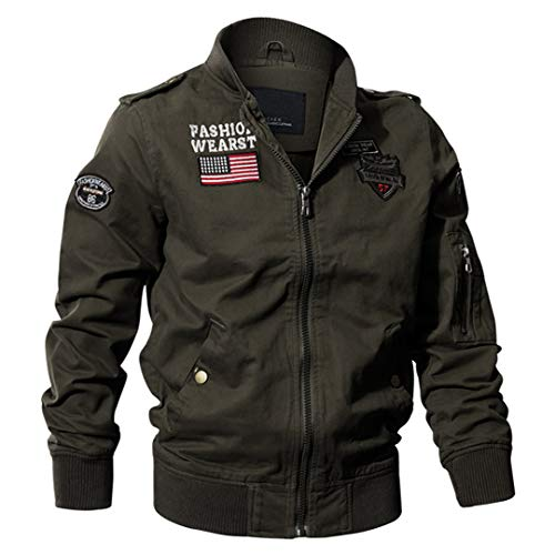 Militaire Tactique Manteau de Veste de l'armée Pilote Jackets Air Force Flight Cargo Coat 2