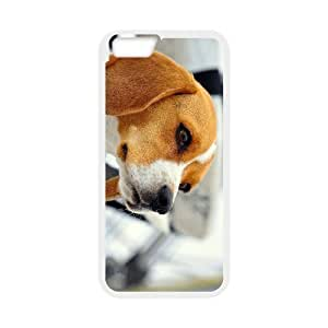 Diy Cute Dog Beagles Phone Case for iphone 6 (4.7 inch) White Shell Phone JFLIFE(TM) [Pattern-1] hjbrhga1544