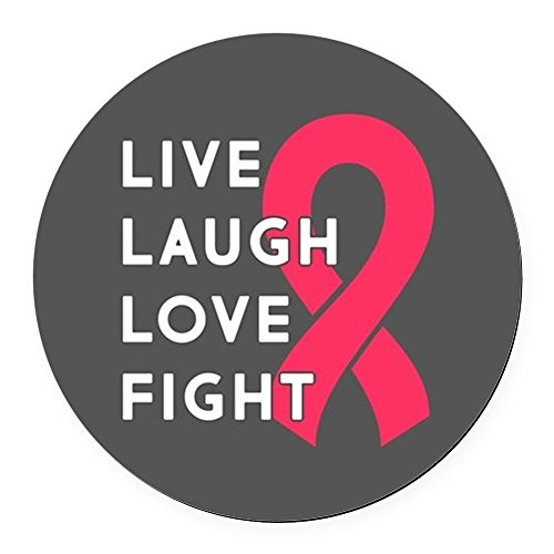 CafePress - Live Laugh Love Fight - Round Car Magnet, Magnetic Bumper Sticker