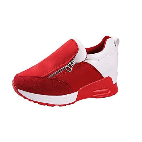 de alta Zapatos cremalleras Thirty y con de casual Donyyyy gruesas mujer six de abajo mujer zapatos HCqc7FPO