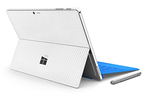 [Herngee Surface Carbon Fiber Texture Protective Decal Skin Protector PVC Skin Stickers Cover Stickers for Microsoft Surface Pro 4, Color White] (Carbon Fiber Protective Cover)
