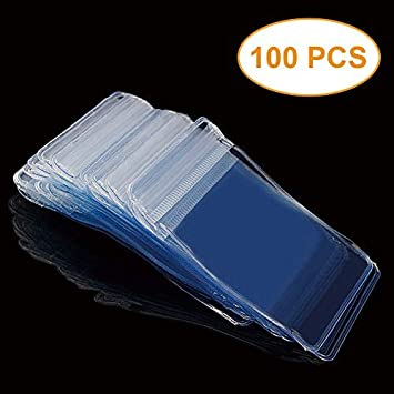 PACK 100 PVC PROTECTIVE MINIATURE MEDAL STORAGE WALLETS