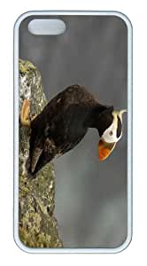 iPhone 5S Customized Unique Landscape Flowers Tufted Puffin Pribilof Islands Alaska New Fashion TPU White iPhone 5/5S Cases