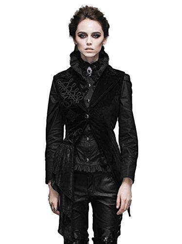 殺人赤字ジェットデビルファッションワンボタンノースリーブの紳士服ビクトリアンスリムフィットジャケットゴスブラックベスト女性用