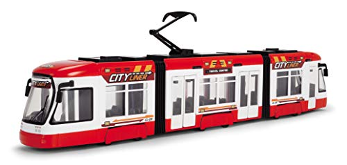 DICKIE TOYS 203749017 203749017 203749017 City Liner Tram with Free-Wheel Doors Open, 46 cm, 2 Assorted Colours
