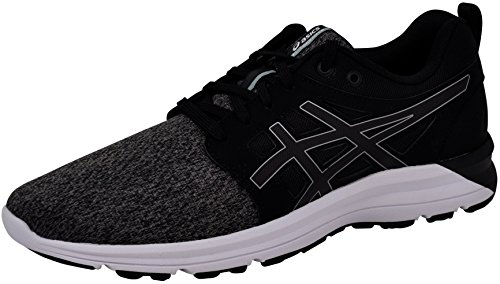 ASICS Women's Torrance Running Shoe, Black/Stone Grey, 8 B(M) US