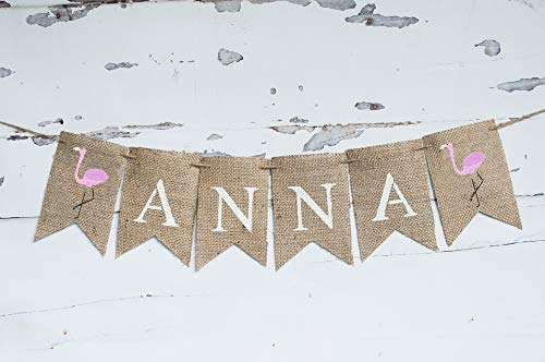 Flamingo Personalized Banner | Summer Birthday Party Decor ()