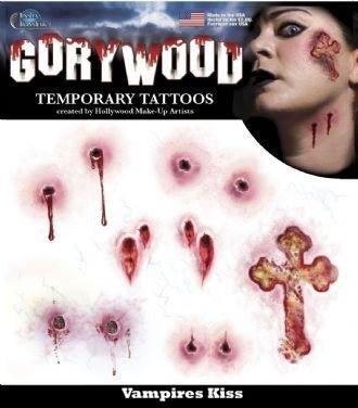 Vampire Bite Temporary Tattoos (Gorywood CROSS and Vampire Bite Temporary)