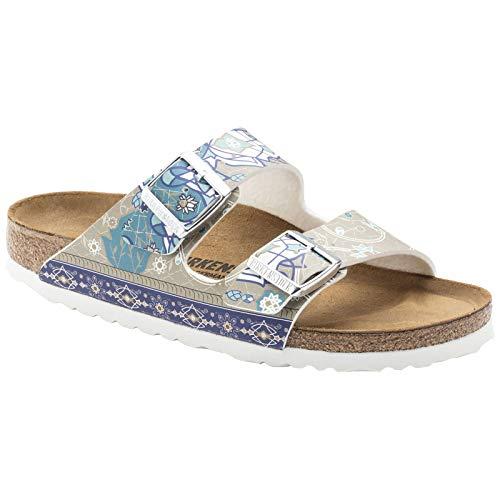 - Birkenstock Womens Arizona Birko-Flor Ancient Mosaic Taupe Sandals 8 US