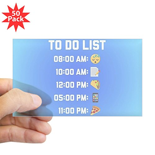 CafePress - Emoji To Do List - Sticker (Rectangle 50 pk) by CafePress