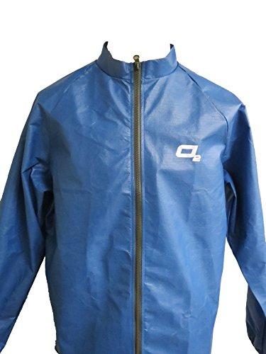 O2 Rainwear Men's Element Series Cycling Jacket, Steel Blue, X-Large