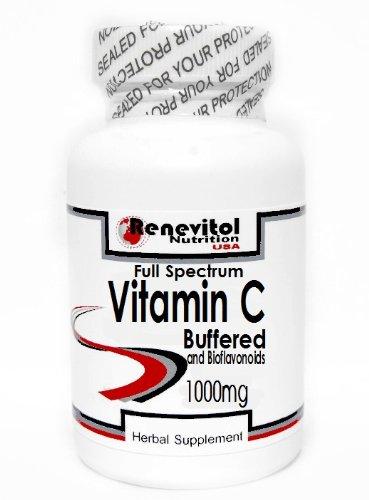 - Full Spectrum Vitamin C Buffered 1000mg and Bioflavonoids 100 Capsules ~ Renevitol