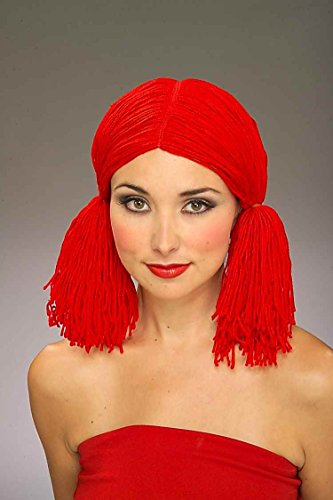 Red Rag Doll Costume (Forum Rag Doll Wig, Red, One Size)